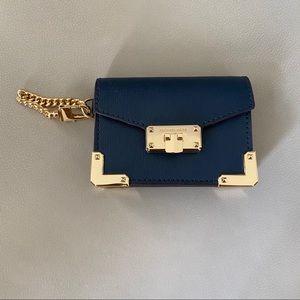 NWOT Michael Kors blue card holder wallet